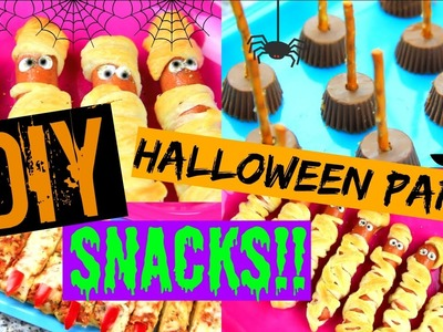DIY HALLOWEEN PARTY SNACK.TREAT IDEAS!!