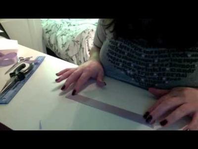 DIY: How to make a ribbon bookmark