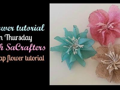 DIY-How to make flowers out of Burlap! (Burlap flower tutorial)