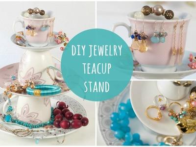DIY Jewelry Stand  - Tea Cup Jewellery Organiser (easy make)
