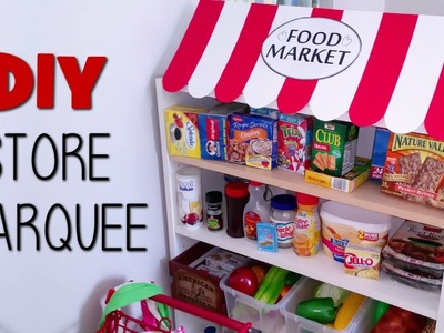DIY Kids Play Grocery Store Marquee | Playhouse Food Market | Blueprint DIY