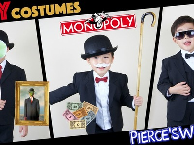 DIY last minute HALLOWEEN costumes - PSY, Mr. Monopoly, Son of Man