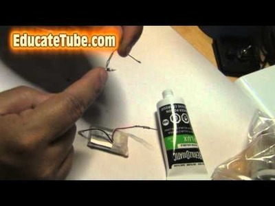 DIY LED light with SMD resistor and Rechargeable Lithium Battery