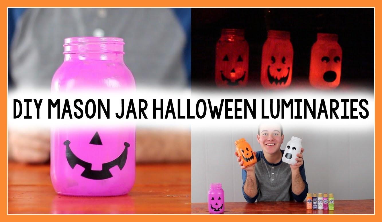 DIY MASON JAR HALLOWEEN LUMINARIES