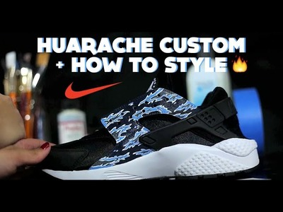 DIY Nike Huarache Custom | How To Paint Tiger Camo Tutorial + Lookbook Style How To Wear