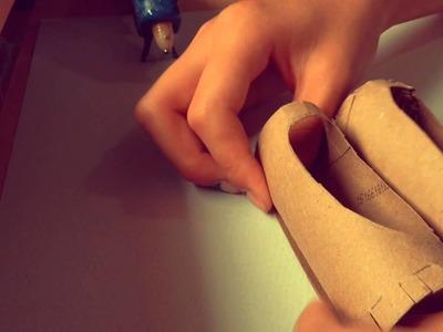 DIY paper mâché pointe shoes Anna's Crafty Corner