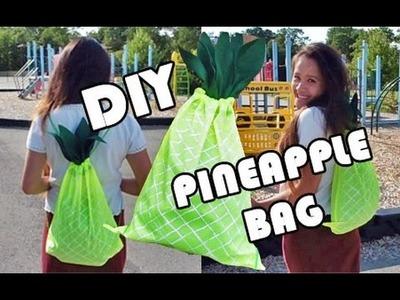 DIY Pineapple Backpack | BACK TO SCHOOL W. JFER