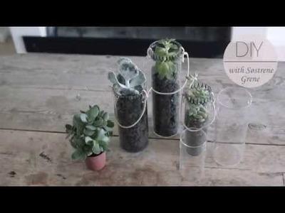DIY: Plant hanger.glass vases by Søstrene Grene