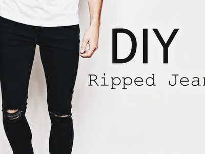 DIY Ripped Jeans | OOTD Men's Fashion Street Style | SuperWednesday ✂️