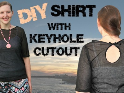 DIY Shirt with Keyhole Cutout - How to Sew a Top.Blouse - Sewing Tutorial