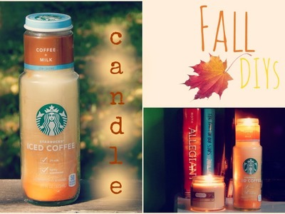 DIY | STARBUCKS COFFEE CANDLE | fall decor