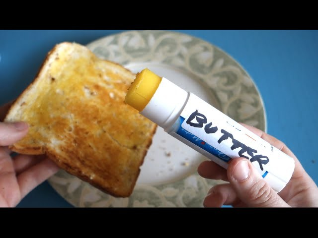 Easiest Way To Spread Butter - DIY Butter Stick Life Hack