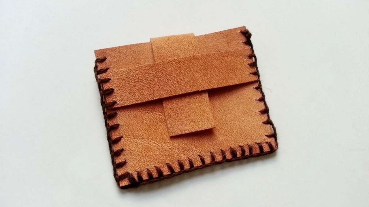 How To Create  Simple Leather Coin Pouch - DIY Style Tutorial - Guidecentral