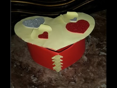 How to DIY Cardboard Heart Shaped Box | How to DIY Cardboard Heart Shaped Box + Tutorial .