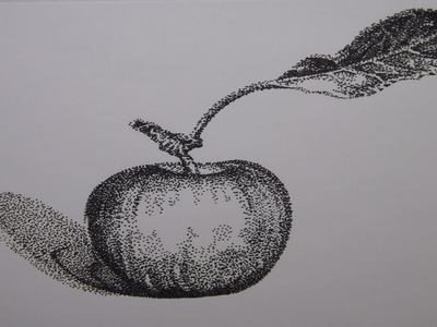 how to draw apple black