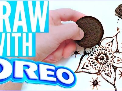 HOW TO DRAW WITH OREOS | DIY OREO ART!