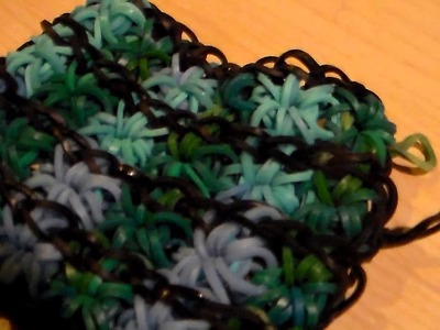 How to make a double, triple, quadruple, or beyond starburst bracelet on one Rainbow Loom part2