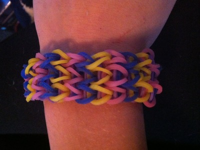 How to make a triple single rubber band bracelet