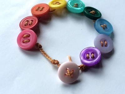 How To Make Adorable Button And String Bracelet - DIY Style Tutorial - Guidecentral
