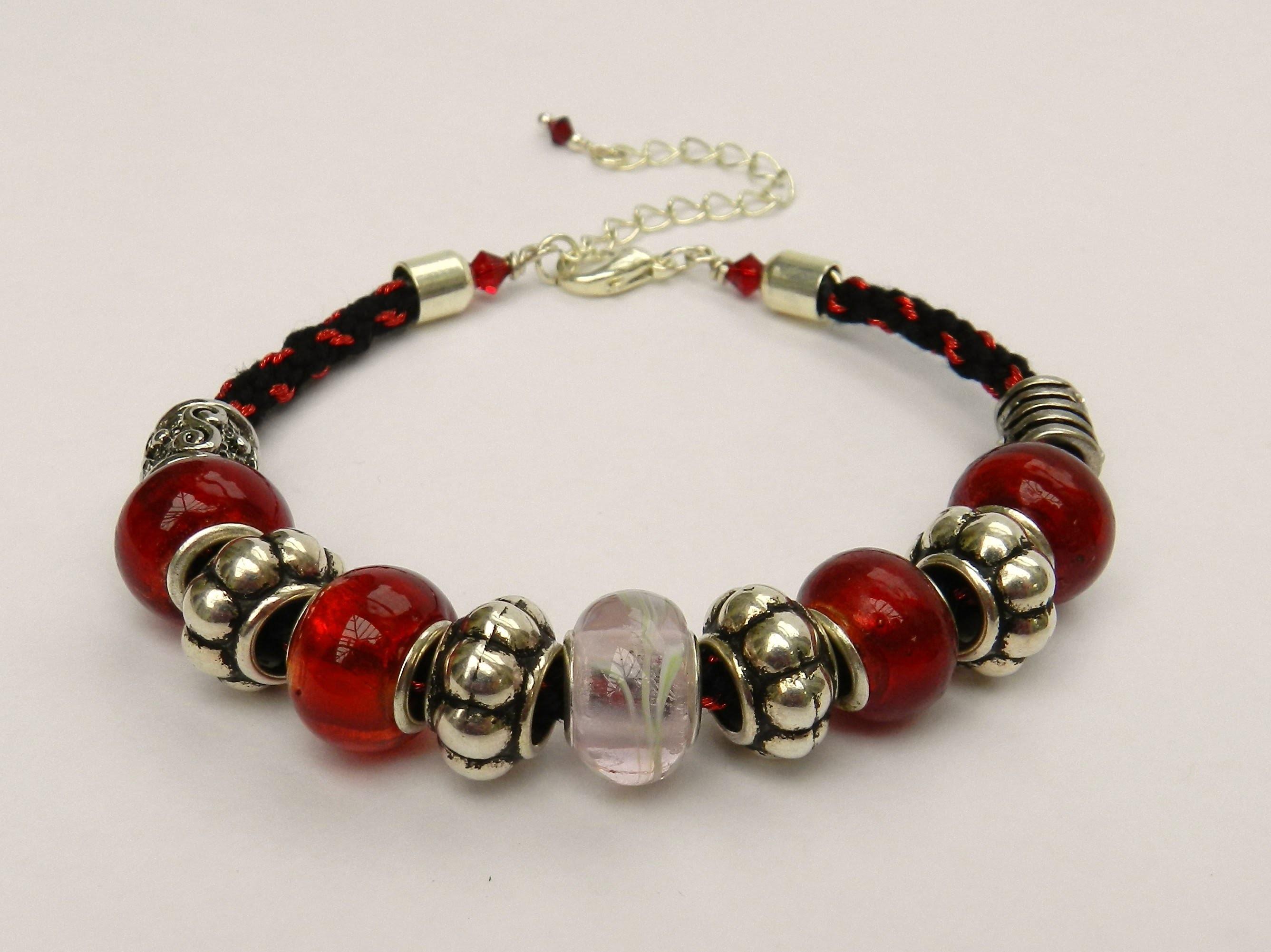 How to make bracelets with beads, threads - DIY friendship bracelet