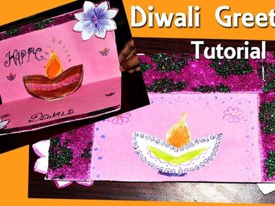 How To Make Diwali Greeting Card DIY Tutorial | By Shiksha Kothari
