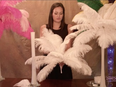 Ostrich Feather Centerpieces - How To DIY