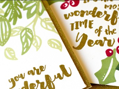 Stretching Holiday Stamps & Dies (DIY Stamps)