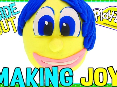 The Making of JOY Play Doh Surprise Egg! DIY Disney Pixar Inside Out Movie Toy Characters