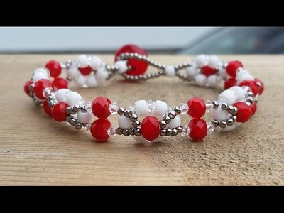(Tutorial) Snowflake Road Bracelet DIY (Video 147)