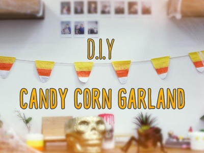 Candy Corn Garland ♥ DIY