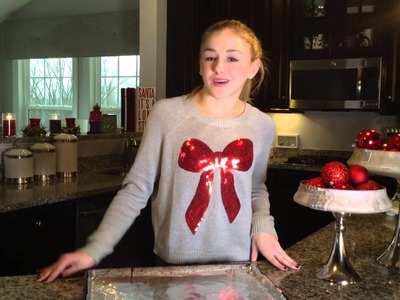 Chloe Lukasiak DIY Holiday Pretzel Treats