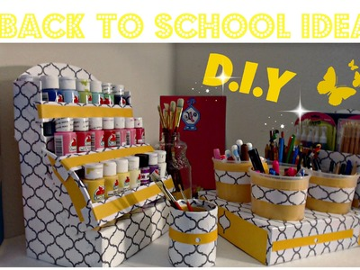 DIY Acrylic Paint Organizer | Nail Polish organizer |Back To School | IDEAS FOR KIDS