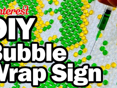 DIY Bubble Wrap Sign - Man Vs Pin ASMR - Pinterest Test #69