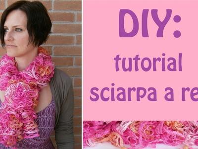 """DIY: come realizzare una sciarpa a rete """"frufru"""" con i ferri"""