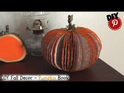 DIY Fall Decor- Awesome Pumpkin Book - Simple - Easy - Fun