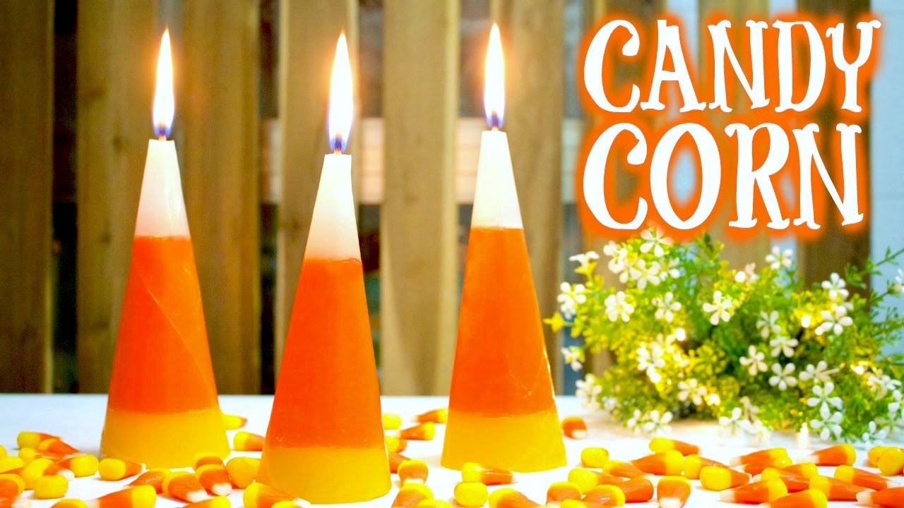 DIY Fall Room Decor | How to Make Candy Corn Candles