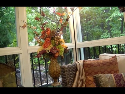 DIY Fall Silk Floral Arrangement - For under $20