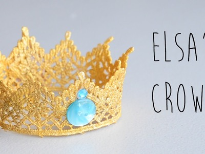 DIY | Frozen Elsa's Crown, How to Make a Lace Crown