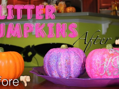 DIY GLITTER PUMPKINS | HOW TO MAKE | CRAFTING SATURDAY | #KJTAKEOVER