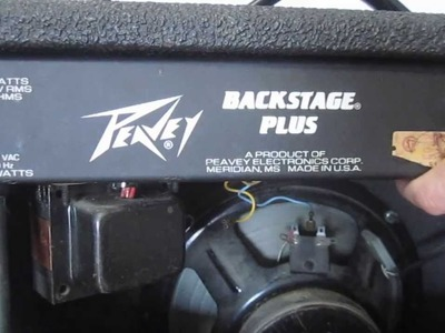 DIY - How to Clean Amplifier Pots - Fix Scratchy Volume Control on Guitar Amp Peavey Backstage Plus