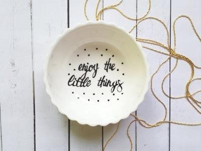 DIY How to paint ceramic with porcelain pen. Cómo pintar cerámica (español & english)
