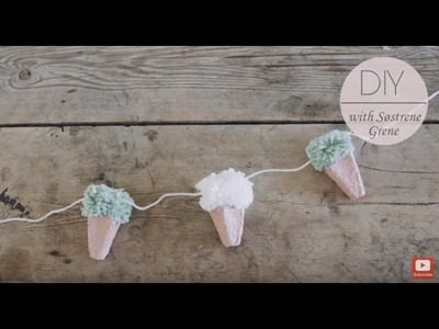 DIY: Ice-cream cones on a string by Søstrene Grene