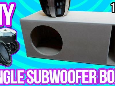 "DIY - Make a Subwoofer Box 10"" | Cajón para bajo de 10"""