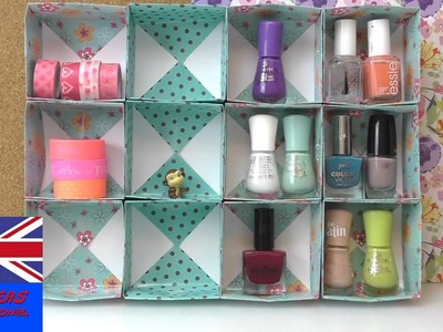 Diy organization ideas for your makeup - how to make a cupboard for nailpolish and make up