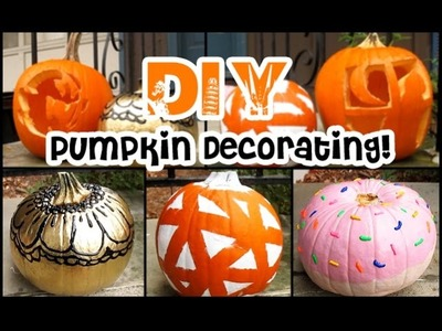 DIY Pumpkin Decorating Ideas! | STYLOWEEN