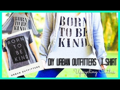 DIY Urban Outfitters. Tumblr T-Shirt (Upcycling Clothes) Back To School Ideas   DIY Camiseta