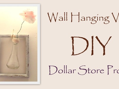 DIY Wall Decor-Hanging Vase with Paper Flower- Easy Dollar Store Project | by Fluffy Hedgehog
