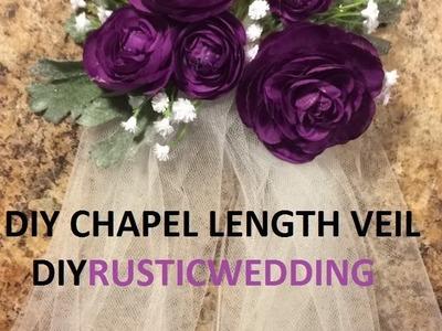 DIY Wedding Veil (Chapel Length) - DIYRUSTICBRIDE