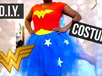 DIY Wonder Woman Tutu Costume | No Sew!