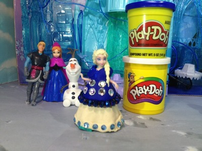 FROZEN PLAY-DOH Tuorial  How to Make Disney Princess Elsa A Play Doh Dress